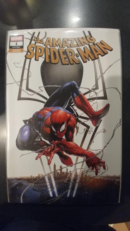 THE AMAZING SPIDER-MAN #1 FRANKIE'S COMIC'S VARIANT SIGNED BY CLAYTON CRAIN COA