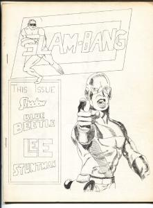 Slam-Bang #3 1965-Rare low print run Fanzine-Stan Lee-Jack Kirby-Blue Beetle