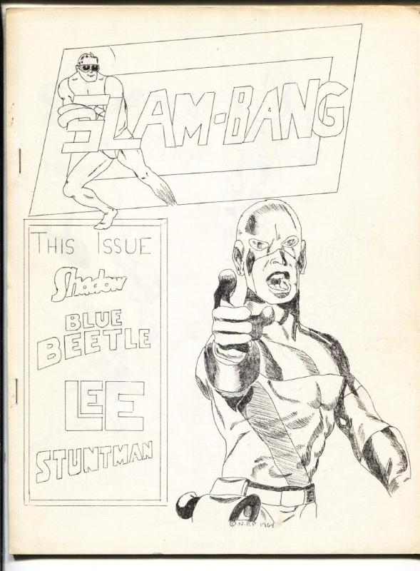 Slam-Bang #3 1965-Rare low print run Fanzine-Stan Lee-Jack Kirby-Blue Beetle