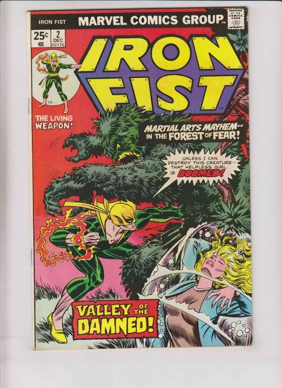 Iron Fist #2 FN chris claremont - john byrne - kung fu - bronze age marvel 1975