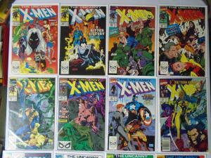 X-Men Lot 24 Different, From:#253-300, Average 8.0/VF Range 6.0-UP (1989-1993)