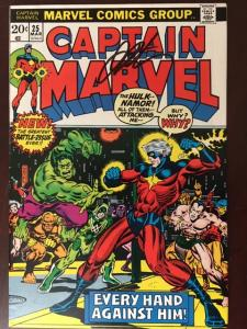 CAPTAIN MARVEL #25 VF+! SIGNED JIM STARLIN! THE ULTIMATE THANOS COLLECTION!