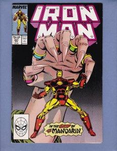 Iron Man #241 FN Mandarin Marvel 1989