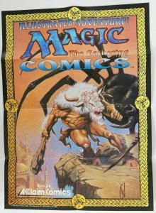 Magic the Gathering comics promotional poster - 26 x 19 - acclaim 1995 WotC