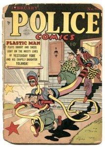 Police Comics #98 1949- PLASTIC MAN- Spirit- Candy low grade
