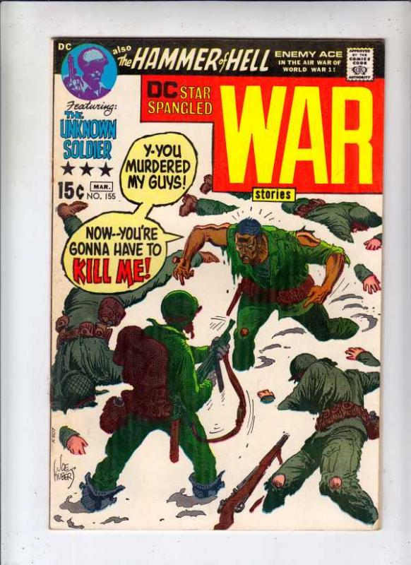 Star Spangled War Stories #155 (Mar-71) FN+ Mid-High-Grade Unknown Soldier, E...