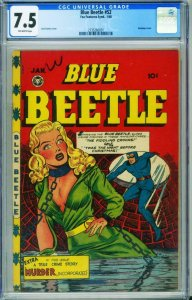 BLUE BEETLE #52 CGC 7.5 Good Girl Art BONDAGE cover-2135260001