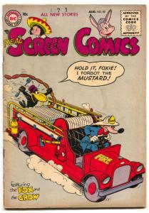 Real Screen Comics #89 1955- Fox & Crow-firetruck VG
