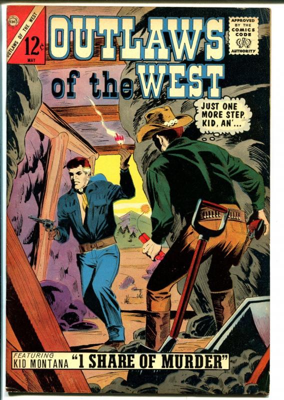 Outlaws Of The West #48 1964-Charlton-Kid Montana-Winchester Rifle-Morisi-VF