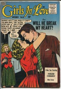 Girls In Love #48 1955-Quality-3rd issue-spicy headlight cover-poses-VG/FN