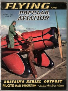 Popular Aviation 4/1941-latest air war pix-Herman Goering-pulp thrills-VG-
