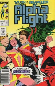 Alpha Flight (1st Series) #70 (Newsstand) VF/NM; Marvel | save on shipping - det