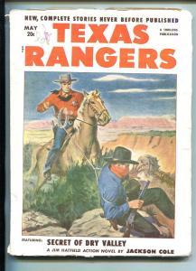 TEXAS RANGERS-05/1952-WESTERN PULP THRILLS-JIM HATFIELD-JIM KJELGAARD-vg