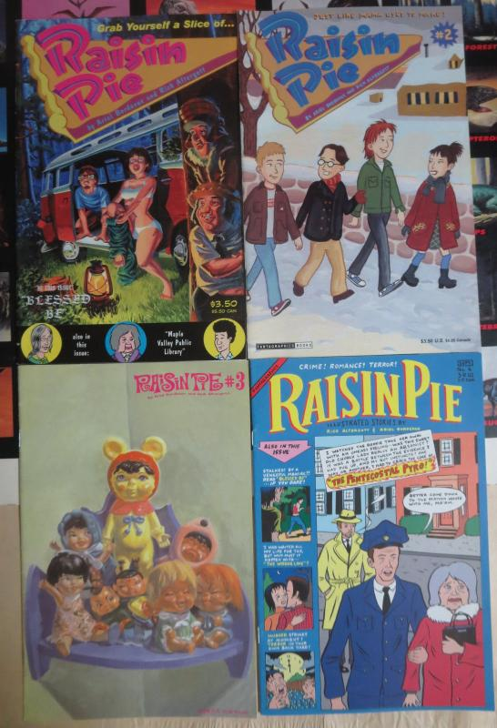 Raisin Pie (Fantagraphics 2002-05) #1-4 Ariel Bordeaux Rick Altergott Small Town