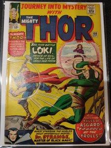 Journey into Mystery # 108 Loki,Doctor Strange App. fine+/vf-