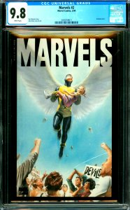 Marvels #2 CGC Graded 9.8 Acetate cover