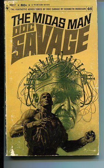 DOC SAVAGE-THE MIDAS MAN-#46-ROBESON-G-JAMES BAMA COVER-1ST EDITION G