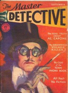 Master Detective 9/1930-MacFadden-Dalton Stevens cover-Greenwich Village Kill...