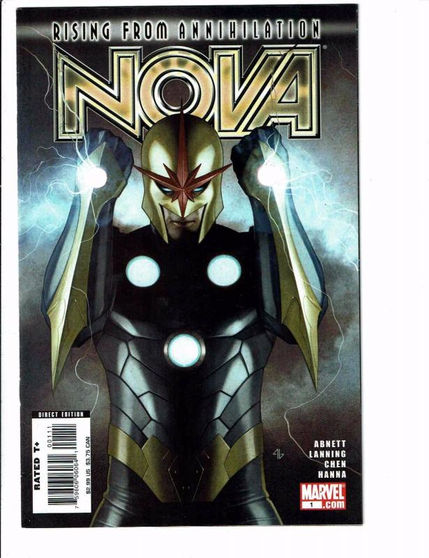 Nova # 1 VF/NM Marvel Comic Book 1st Print Avengers Thanos Drax Ronan GOTG J100