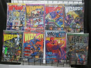 Wizard Magazine Lot of 8Diff from 1992 to 1995 Sealed in Original Bags w Goodies