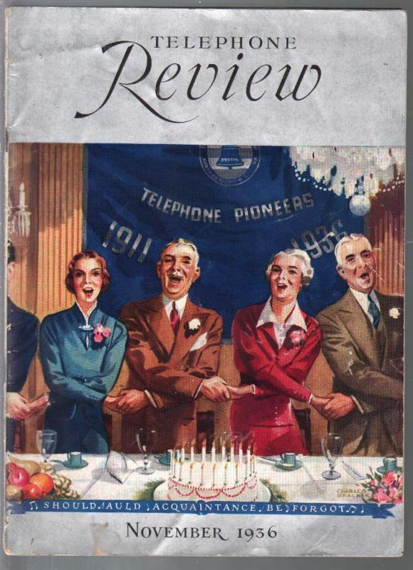 Telephone Review 11/1936-trade journal for phone company-historic-Tazio Nuvlari-