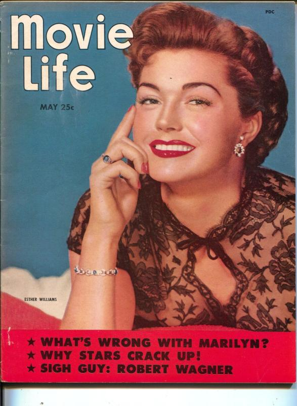 Movie Life-Esther Williams-Marilyn Monroe-Robert Wagner-Leslie Caron-May-1953