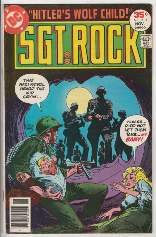 Sgt. Rock #310 (Nov-77) FN Mid-Grade Sgt. Rock and Easy Company