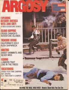 Argosy 9/1972-Popular-gunfight cover-Zane Grey-pulp thrills-VF