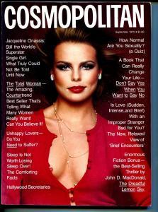 Cosmopolitan 9/1975-John D MacDonald-pulp fiction-Margaux Hemingway-FN/VF
