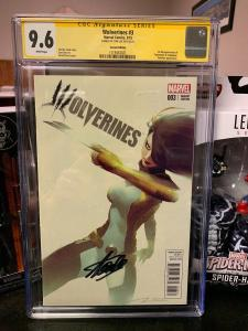 Wolverines #3 Parel Variant CGC 9.6 SS Key Issue Signed by STAN LEE