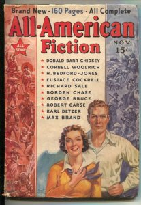 All-American Fiction #1 1937-Munsey-1st issue-Pulp violence & thrills-Cornell...