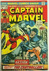 CAPTAIN MARVEL#30 FN/VF 1974  THANOS  BRONZE AGE COMICS