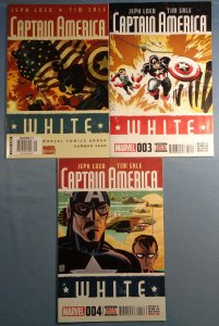 Captain America White Lot #0 #3 #4 Marvel Comics