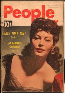 People Today 9/24/1952-Ava Gardner-Gypsy Rose Lee-cheesecake-exploitation-G/VG