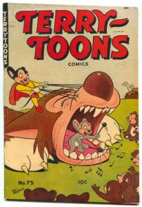 Terry-Toons #75 1945- Mighy Mouse Tooth Gag cover VG