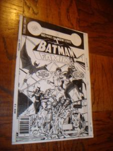 BATMAN MAN BAT BATGIRL ROBIN COVER PRODUCTION ART TRANSPARENCY