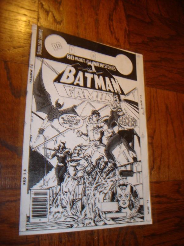 BATMAN MAN BAT BATGIRL ROBIN COVER PRODUCTION ART TRANSPARENCY