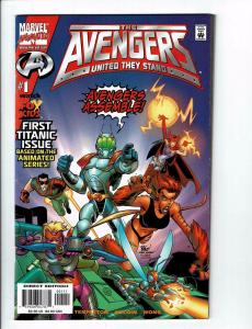 7 Avengers United They Stand FOX Kids Cartoon Marvel Series # 1 2 3 4 5 6 7 BH5