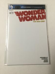 Wonder Woman 19 Nm Near Mint Blank Variant DC Comics