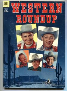 Western Roundup #5 1954- Gene Autry-Roy Rogers-High Grade VF