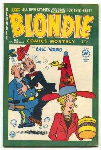 Blondie Comics #28 1951- Harvey Golden Age G/VG