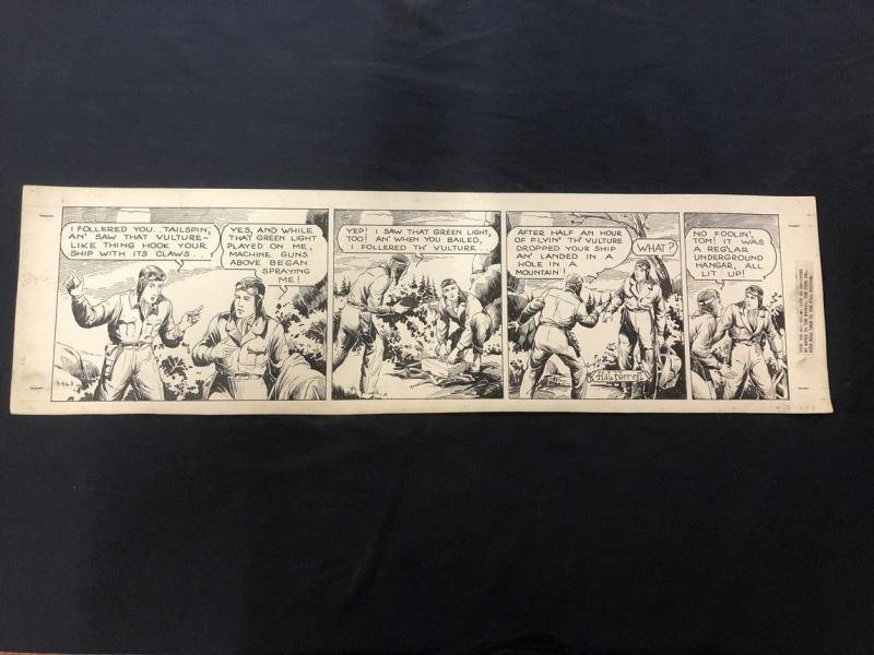 Tailspin Tommy Original Daily Comic Strip Art #3463 June 9 HAL FORREST