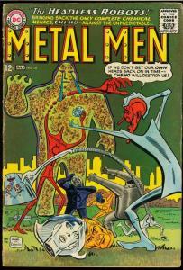 METAL MEN #14-THE HEADLESS ROBOT-DC SILVER AGE G