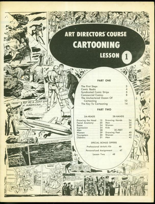 Art Directors Course Cartooning Lesson One 1970- Blondie FN/VF