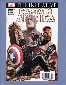 Captain America #27 NM- Newsstand Edition HTF Marvel 2007