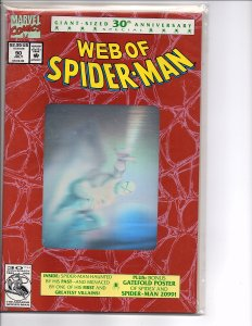 Marvel Comics (1985) Web of Spider-man #90 1st Print Silver Hologram Cover