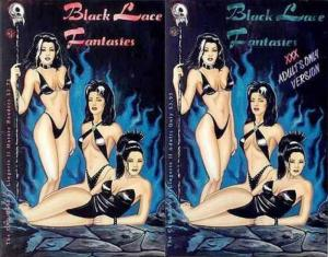 BLACK LACE FANTASIES CFD BOOK OF LINGERIE II  1A-1B Set
