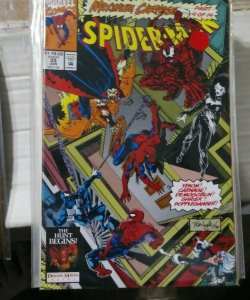 SPIDER-MAN #  35  MARVEL 1993  MAXIMUM CARNAGE PT 4- VENOM DEMOGOBLIN BLACK CAT