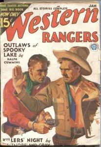 WESTERN RANGERS--JAN 1932--JOHNNY & RAWHIDE STORY BY WESTMORELAND GRAY--PULP