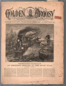 Golden Argosy #309 11/3/1888-Munsey-Argosy precursor-Edward Kirkman-Civil War-G